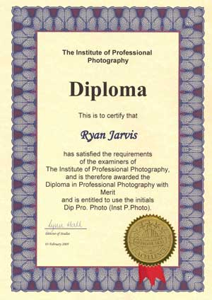 Ryan Jarvis Photography - IPP Diploma