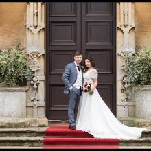 Emily & Steven at Stoke Rochford Hall