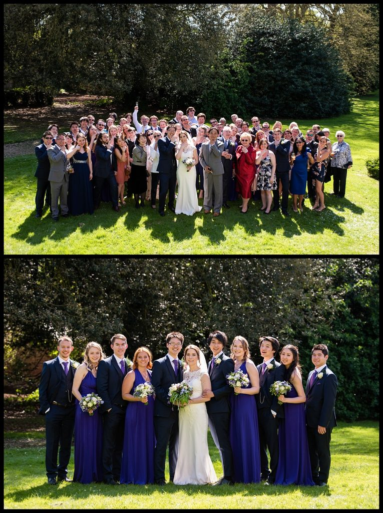 Orton Hall wedding
