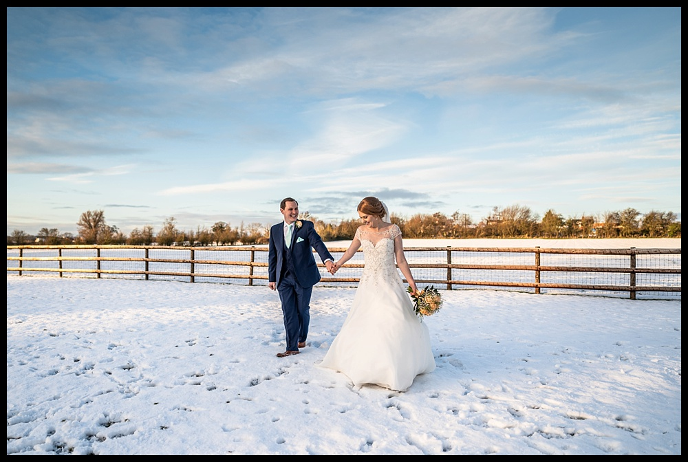 Harriet & Mike's winter wedding